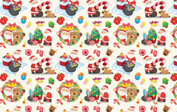 Picture holiday, texture, art, candy, gifts, New year, Santa Claus, herringbone