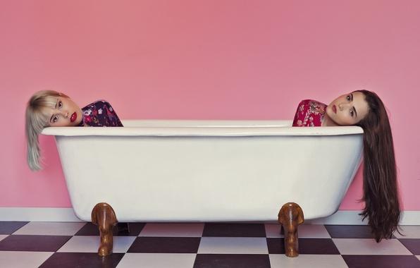 Picture background, girls, bath