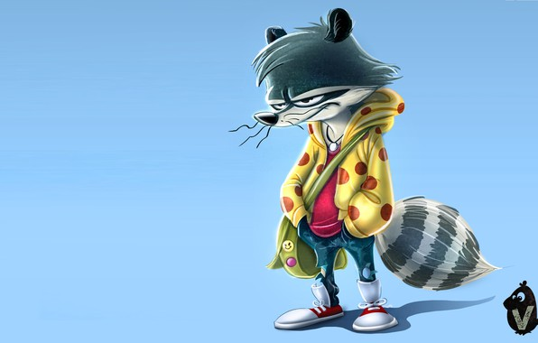 Picture art, raccoon, kid, Vipin Jacob, I'm Back