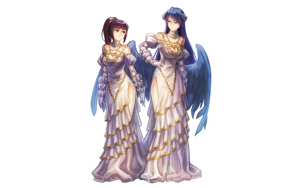 Picture background, girls, Overlord, The Lord, dresses