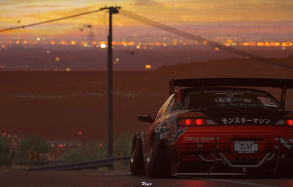 Picture sunset, Silvia, Nissan, NFS, tuning, Electronic Arts, Need For Speed Payback