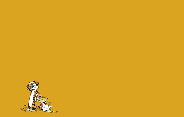 Picture tiger, child, boy, comic, Calvin and Hobbes, Calvin and Hobbes, Calvin, Hobbs