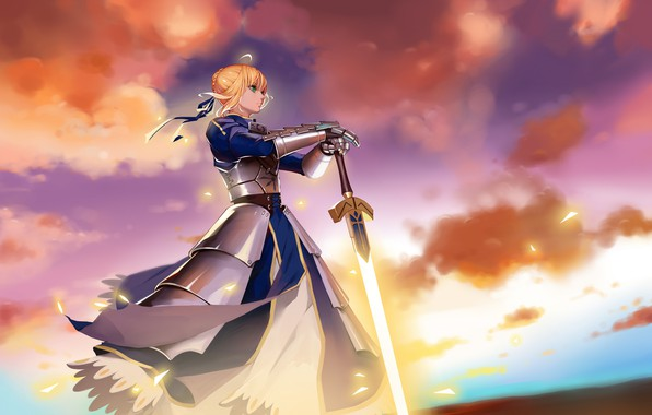 Picture anime, art, character, the saber, Fate Grand Order