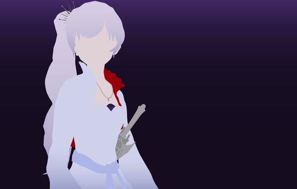 Picture kawaii, sword, dress, minimalism, anime, pretty, ken, blade, bishojo, White Snow, RWBY, japonese