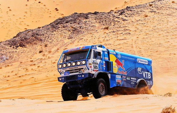 Picture The sky, Sand, Nature, Blue, Sport, Speed, Truck, Race, Master, Beauty, Russia, Beast, Heat, Kamaz, …