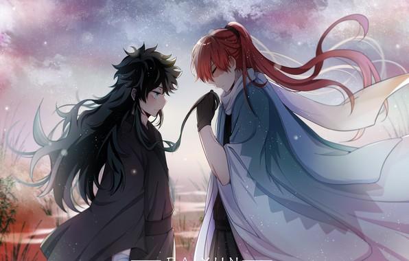 Picture anime, two, long hair, Fanart, Boku no Hero Academy, Todoroki Shouto, Pixiv, My Hero Academia, …