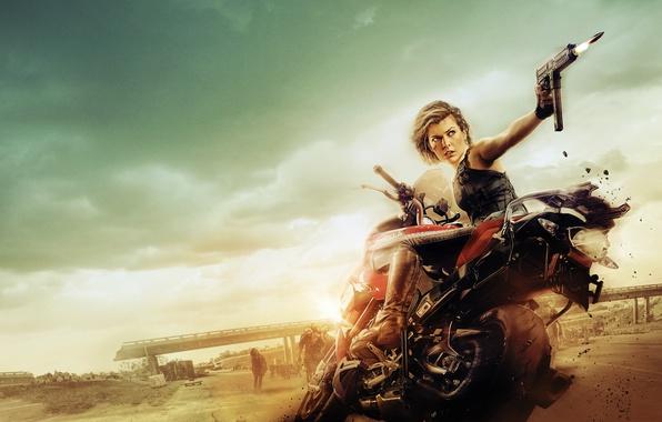 Picture Girl, Action, Blizzard, Warrior, Supernatural, Resident Evil, Milla Jovovich, Female, Machine, Alice, Guns, year, Woman, …