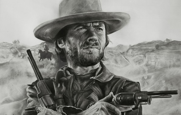 Picture figure, Western, Clint Eastwood, Clint Eastwood