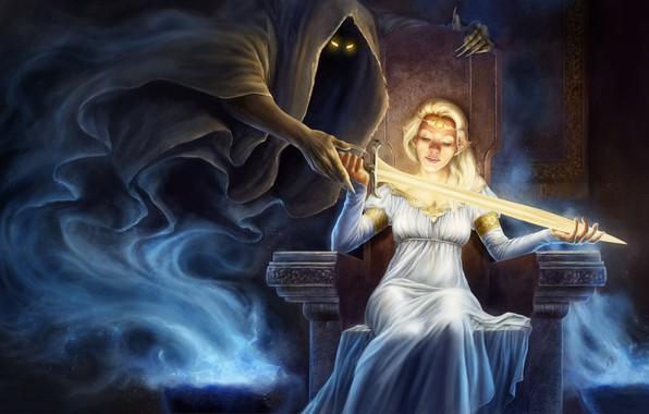 Picture Girl, Sword, Death, Spirit