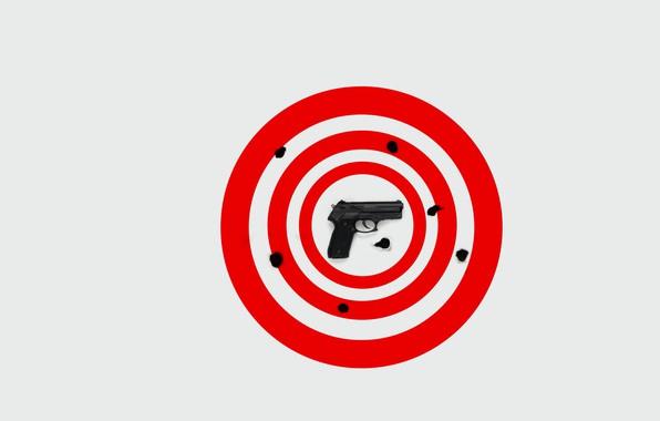 Picture gun, background, target
