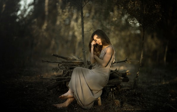 Picture girl, nature, mood, Laulights