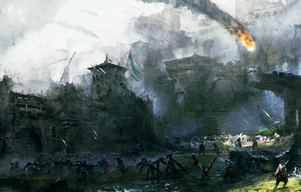Picture Art, Ubisoft, Game, For Honor, Courtyard's Battle