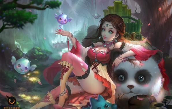 Picture the game, art, Panda, pet, Jiangshan