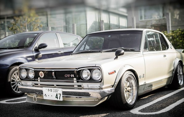 Picture Auto, White, Machine, Nissan, Nissan, Lights, Car, 2000, Skyline, Nissan Skyline, The front, 2000GT, Japanese, …