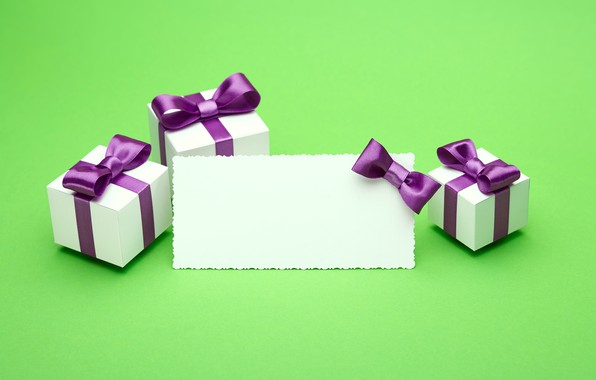 Picture gift, tape, bow, box, present, gift, bow, puple, satin