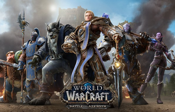 Photo wallpaper Alliance, World Of Warcraft, The battle for Azeroth, Anduin Rushing