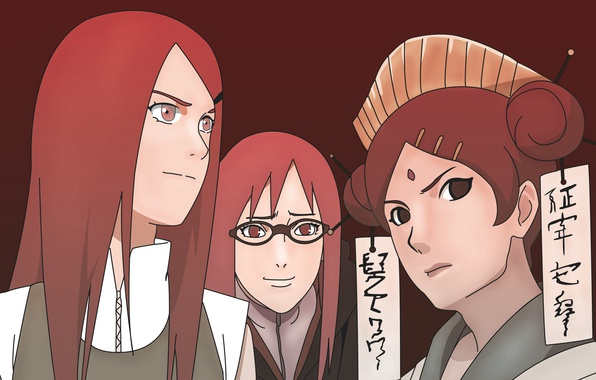 Photo wallpaper red, girl, game, red hair, woman, anime, redhead, asian, Akatsuki, manga, Uzumaki, japanese, oriental, jinchuuriki, ...