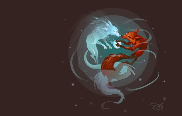 Picture the moon, art, Fox, Fox, Daniesca