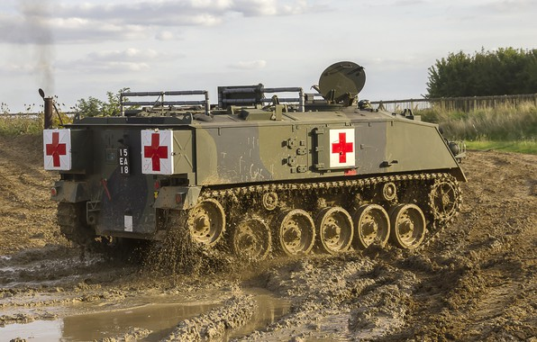 Picture army, technique, medical, tracked armored personnel carrier