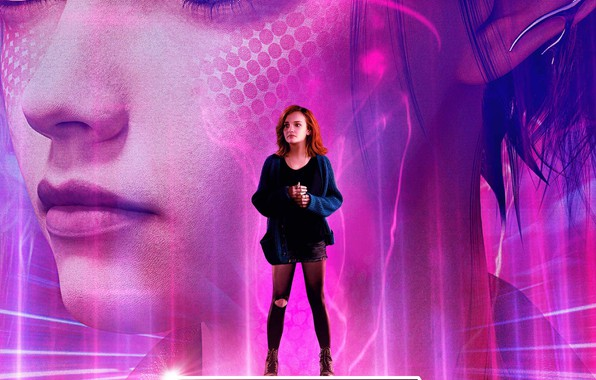 Picture girl, face, background, fiction, red, poster, Olivia Cooke, Olivia Cooke, Ready Player One, The first …