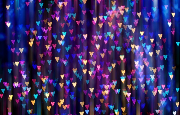 Wallpaper Light, Hearts, Bright, A Lot, Bokeh Images For