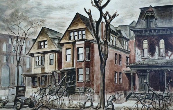 Picture Charles Ephraim Burchfield, 1927-28, Civic Improvement