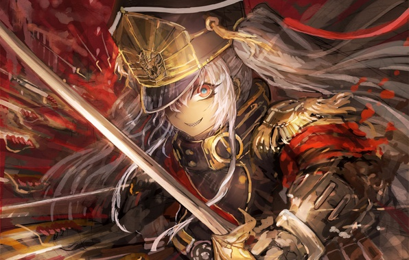 Photo Wallpaper Red Game Anime Asian Warrior Japanese Oriental