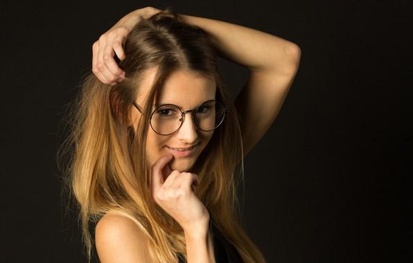 Picture smile, model, hair, glasses, Alice