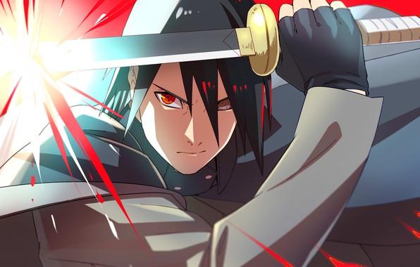 Picture anger, Naruto, katana, sharingan, Uchiha Sasuke, rinnegan, Boruto Naruto Next Generations, by curamubuono