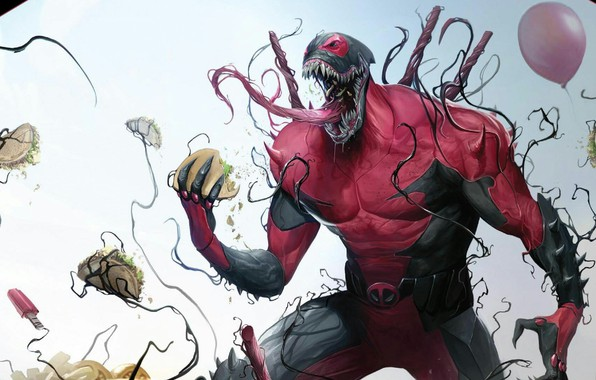 Picture Language, Balls, Balls, Teeth, Costume, Comic, Balls, Food, Deadpool, Marvel, Deadpool, Comics, Venom, Venom, Symbiote, …