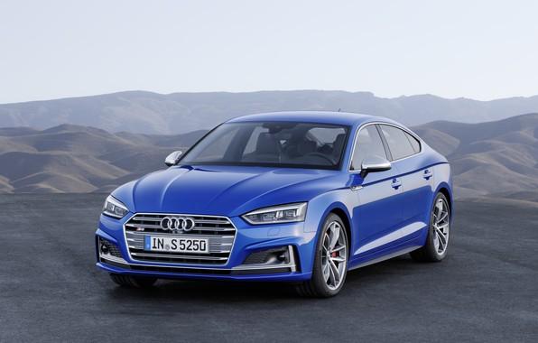 Picture Audi, German, Blue, 2018, A5, S5