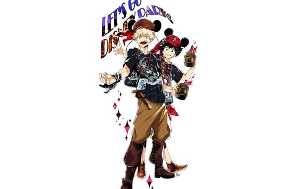 Picture anime, art, guys, costumes, Boku no Hero Academy, My heroic academia