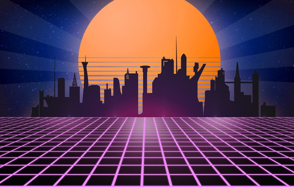 Picture retro, retro, tron, neon, 1980, synth wave, retrowave, retrouve