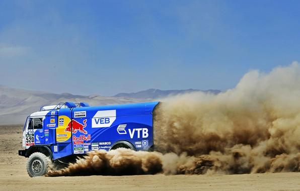 Photo wallpaper Nature, Dust, Sport, Speed, Truck, Race, Master, Beauty, Russia, Kamaz, Rally, Dakar, Dakar, Rally, KAMAZ, ...