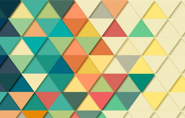 Picture mosaic, abstraction, background, triangles, geometry