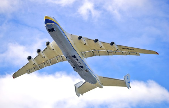 Picture The sky, Clouds, The plane, Wings, Engines, Dream, Ukraine, Mriya, The an-225, Airlines, Soviet, The ...