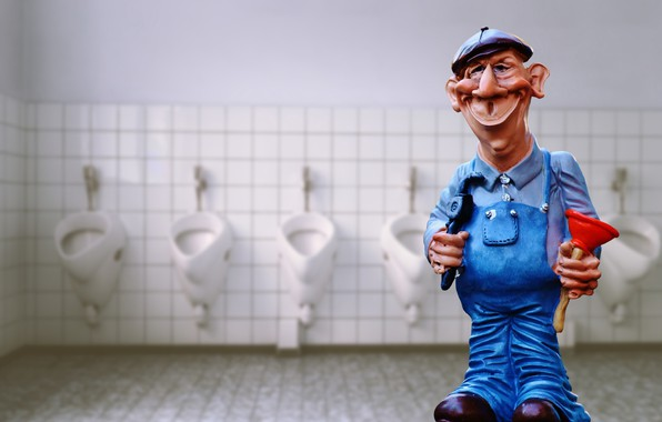 Picture key, the plunger, figure, plumber