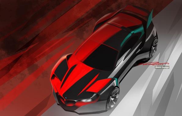 Picture background, BMW, sketch, Hommage, BMW Design