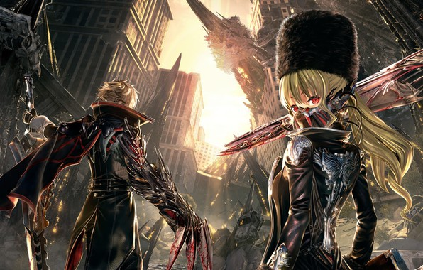 Picture the city, the game, ruins, Code Vein