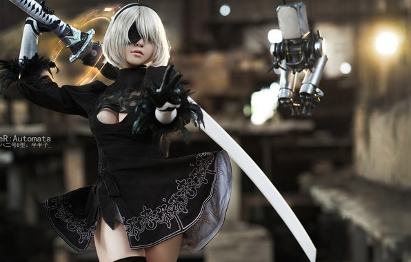 Nier Automata Cosplay Full Hd Wallpaper: Wallpaper Cosplay, Nier Automata, 2B, No. 2 Yorha Images