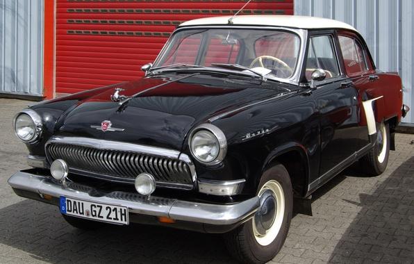 Picture background, white, garage, black, USSR, classic, Volga, Volga, GAZ 21, RSFSR, GAZ 21