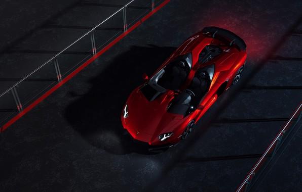 Picture Lamborghini, Red, Front, Supercar, Aventador J