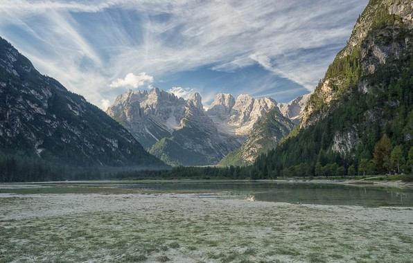 Photo wallpaper nature, mountains, the sky