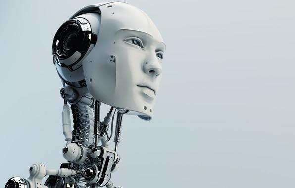 Picture robot, head, humanoid