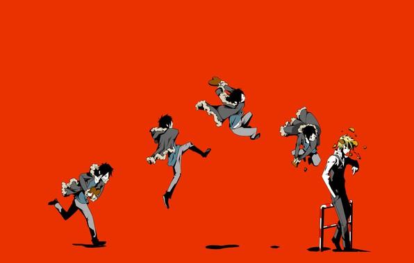 Picture the wreckage, jump, blow, art, bully, Heiwajima Shizuo, Durarara!!, hell of a grin, Orihara Izaya, …