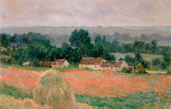 Picture field, landscape, home, picture, Claude Monet, Oscar-Claude Monet, Haystack at Giverny