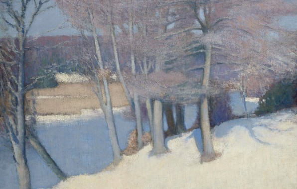 Picture landscape, picture, Edmund Grisen, Winter Trees