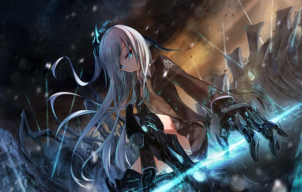 Photo Wallpaper Future Girl Fantasy Long Hair Anime Science Fiction