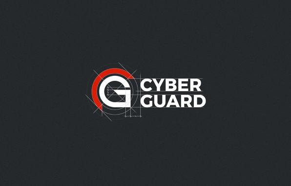 Picture minimalism, Logo, minimalism, Logo, Cyber Guard, Protection, Protect, CyberGuard