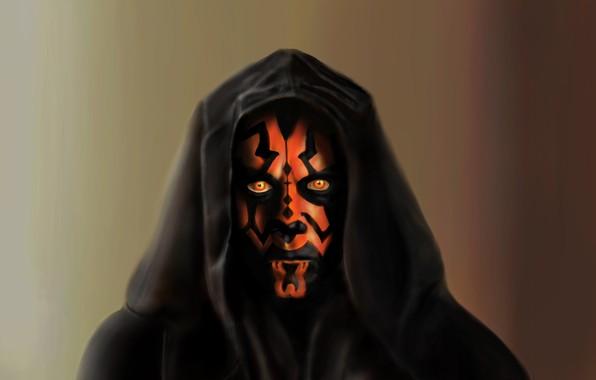 Photo wallpaper Star Wars, star wars, Darth Maul, Painting, Darth Maul, A Sith Lord
